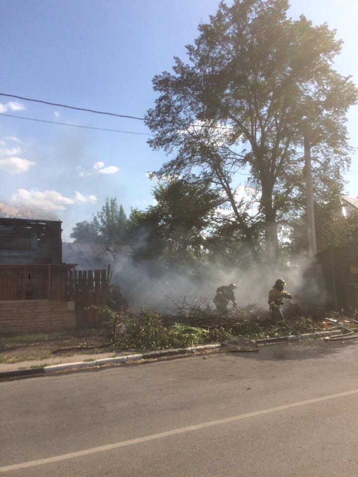 В Тамбове загорелся объект культурного наследия