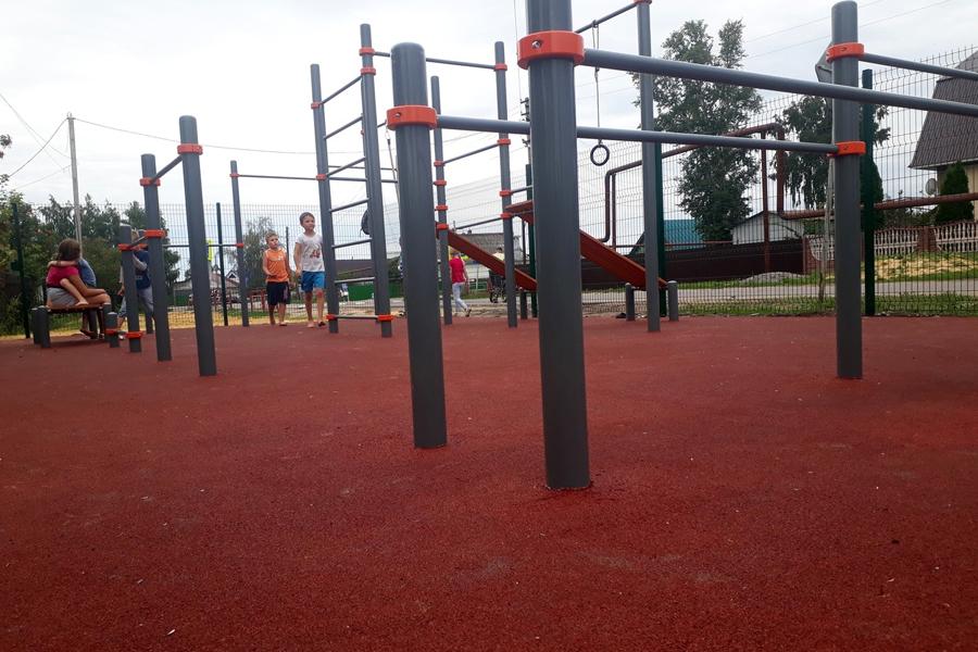 В Тамбовскую область поступили спортивные тренажеры