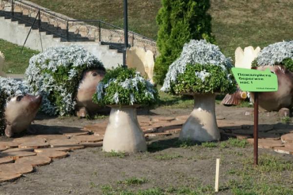 Для«Семейства ежей» наулице Набережной вТамбове сделали фотозону
