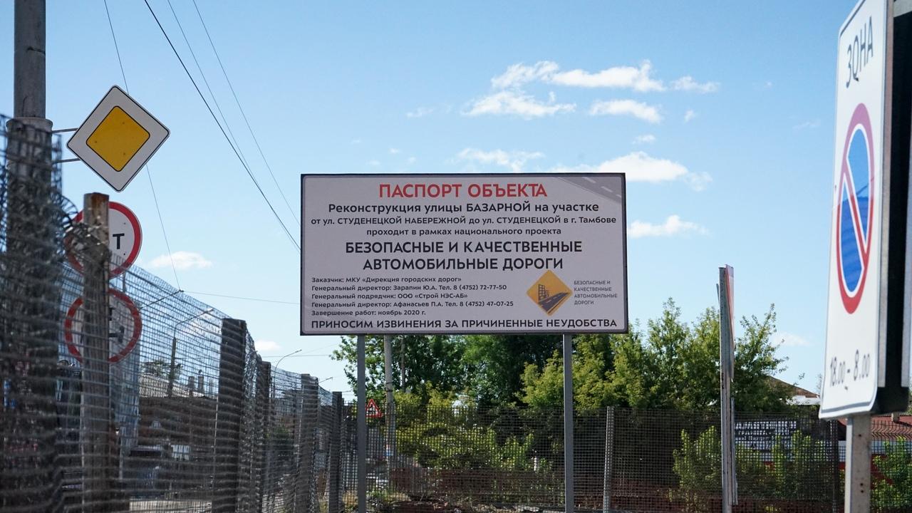 Мост на улице Базарной в Тамбове готовят к сносу