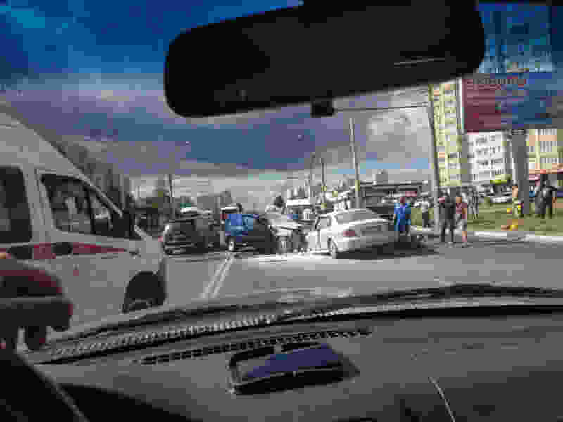 На севере Тамбова страшная авария: оба водителя в больнице