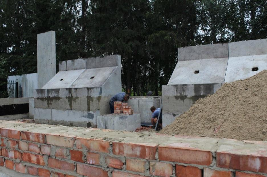 В Мичуринском районе идет строительство мемориального комплекса