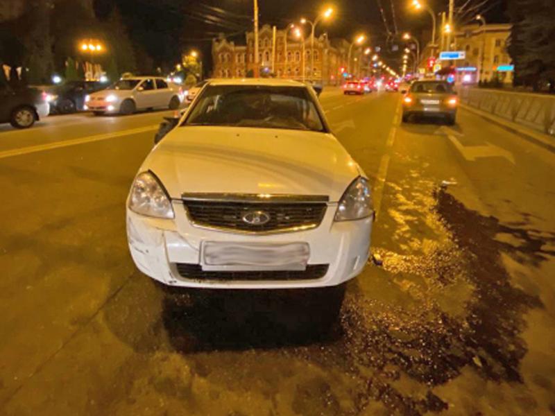 В ночном ДТП в центре Тамбова пострадали 3 человека