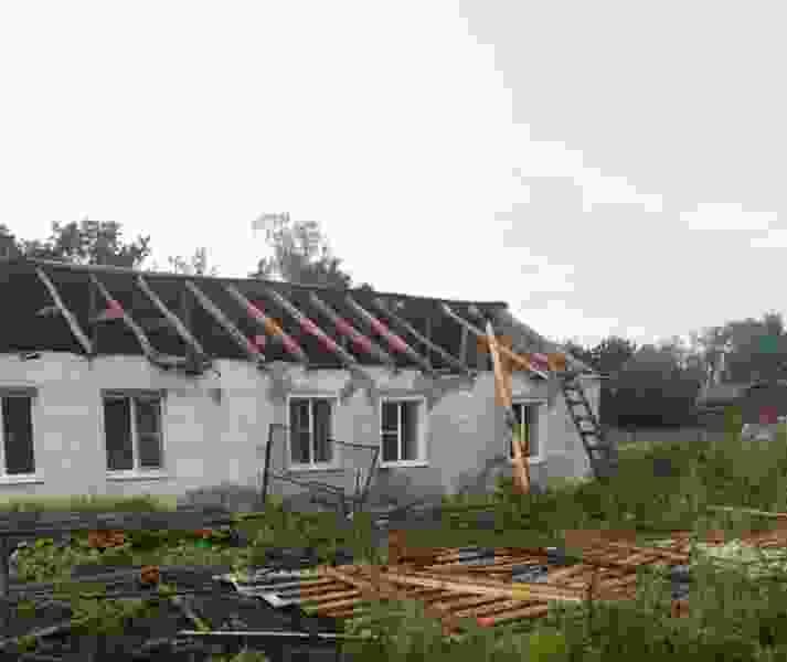 В Тамбовской области ветром сорвало крыши с 5 частных домов