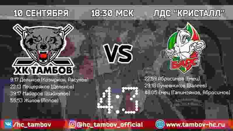 ХК «Тамбов» одержал третью победу подряд