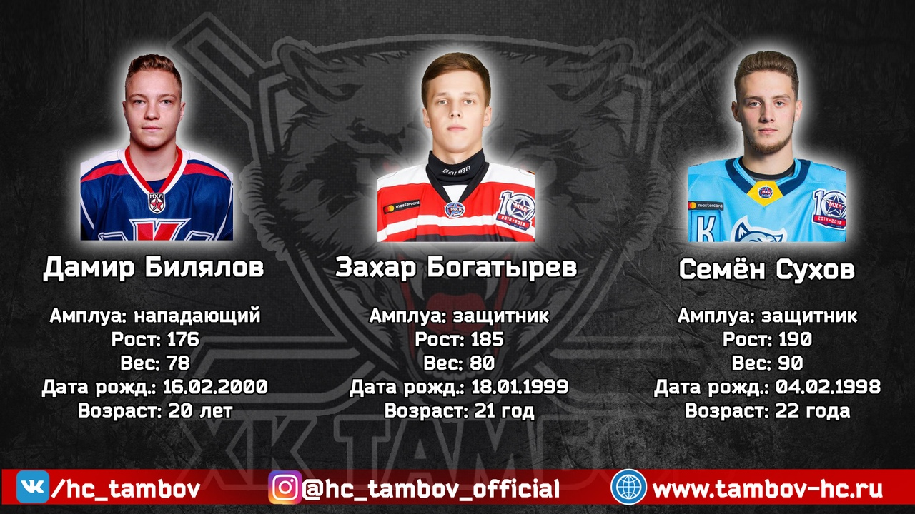 """ХК """"Тамбов"""" покинул один из ведущих нападающих"""