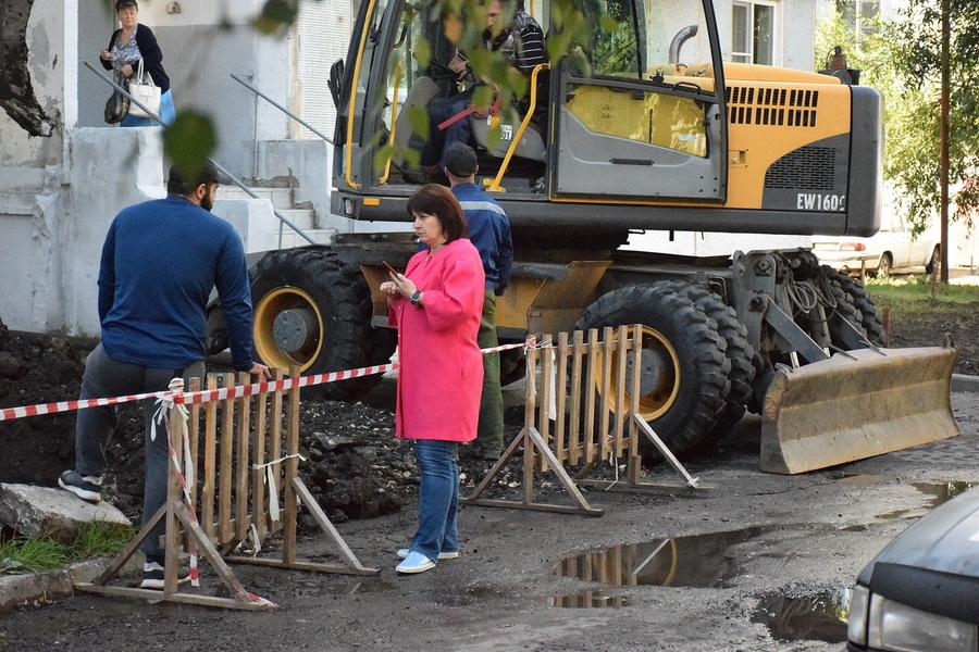 На Астраханской в Тамбове начали работы по замене участка теплосети