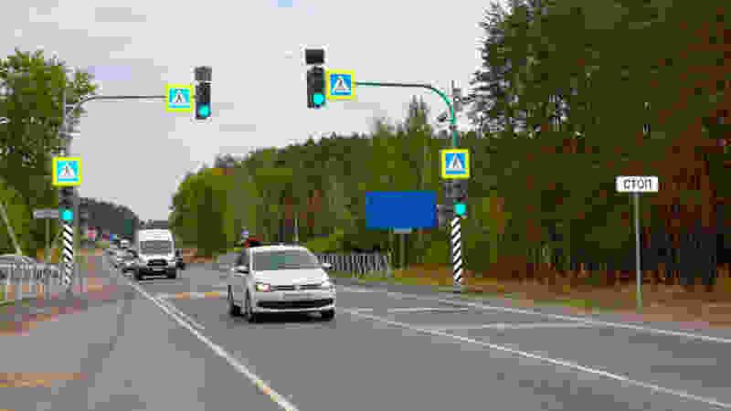 На федеральных трассах в Тамбовской области установили новые светофоры