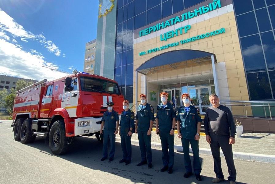 Тамбовский перинатальный центр проверили на соответствие нормам пожарной безопасности