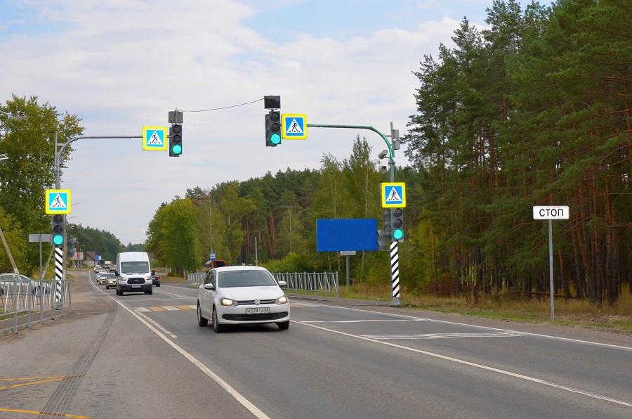 Три новых светофора установили на трассах в Тамбовской области