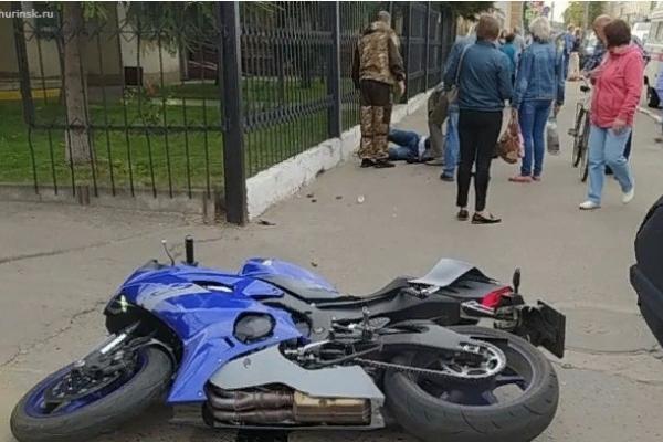 В Мичуринске пожилая женщина попала под колёса мотоцикла