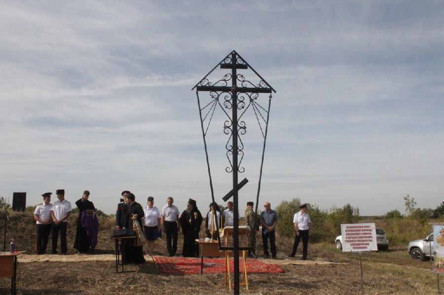 В Мичуринском районе освятили поклонный крест на Урляповом урочище