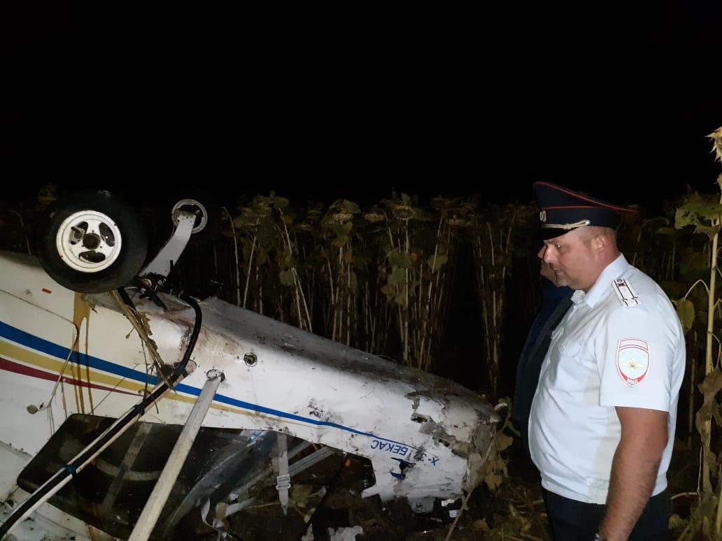 В Мичуринском районе потерпел крушение самолет