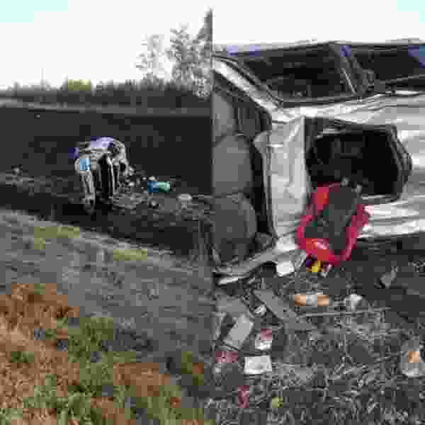 В Тамбовской области на трассе перевернулся внедорожник с двумя детьми: водитель и пассажиры в больнице