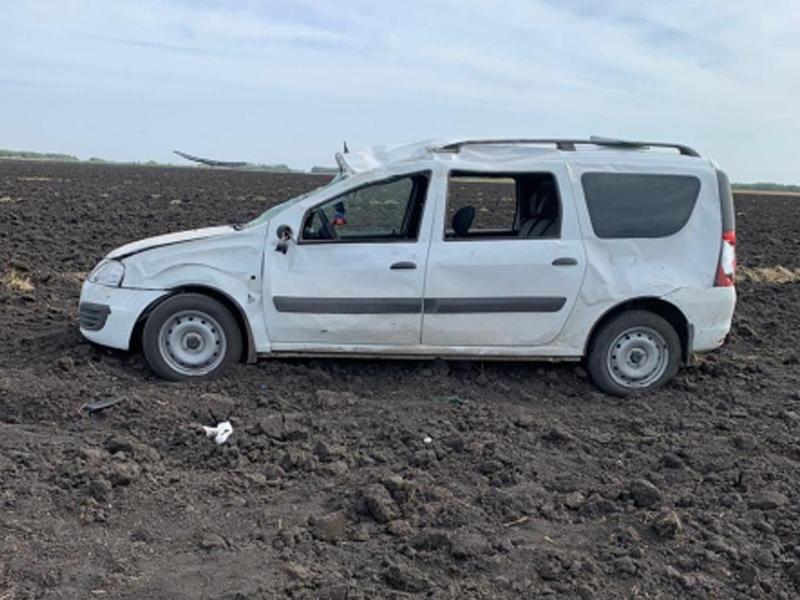 В Токарёвском районе иномарка вылетела в кювет