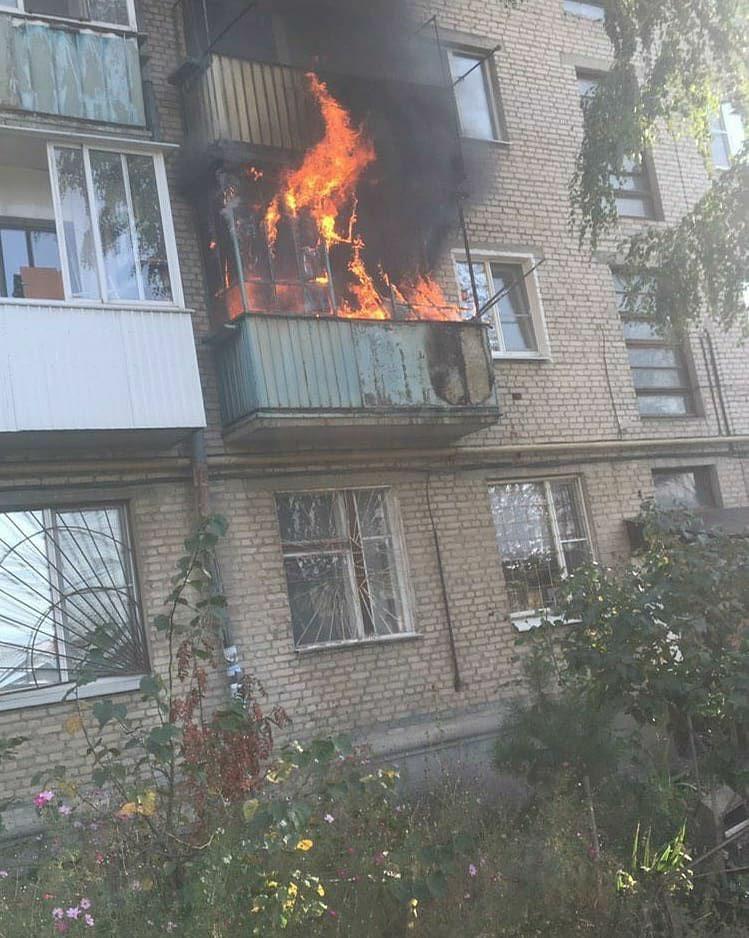 На Мичуринской в Тамбове загорелся балкон