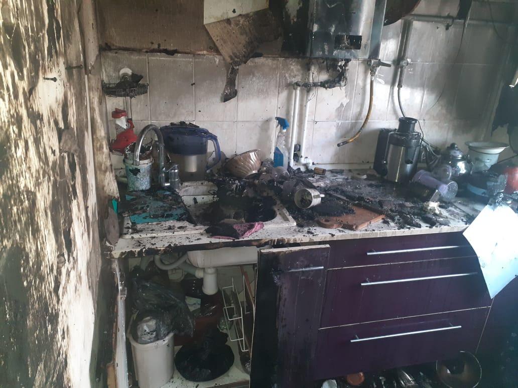 В Котовске произошел пожар в многоквартирном доме