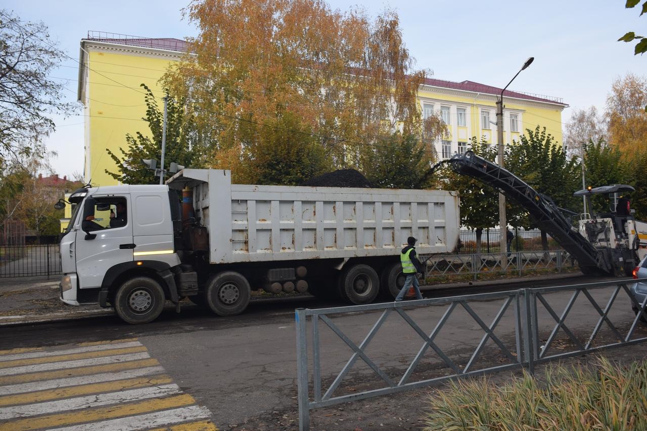 В Тамбове на 1-й Полковой отремонтируют проезжую часть и тротуары