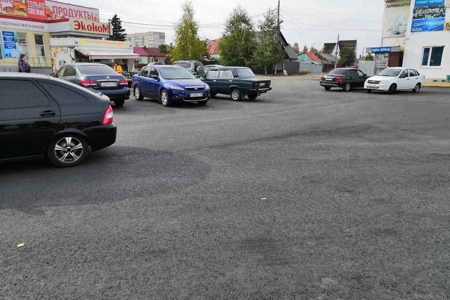 В Тамбове отремонтировали парковку на Лермонтовской