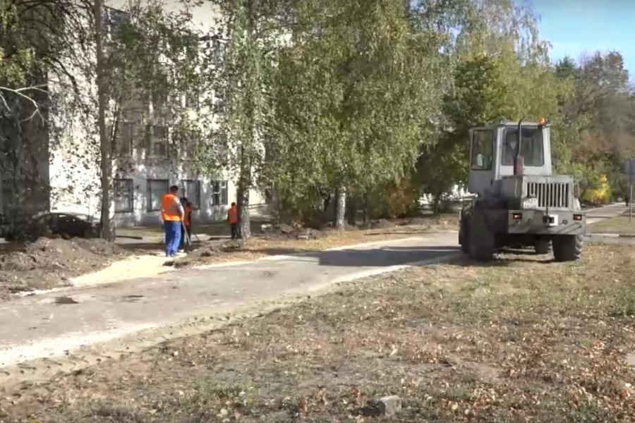В Тамбове приступили к ремонту тротуара по улице Рылеева