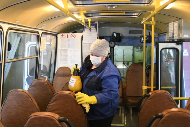 В Тамбове возобновили дезинфекцию салонов автобусов
