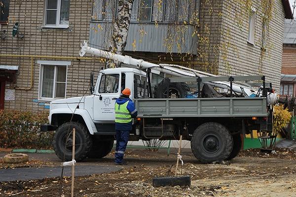 В Тамбове запланирована установка опор освещения в 35 дворах