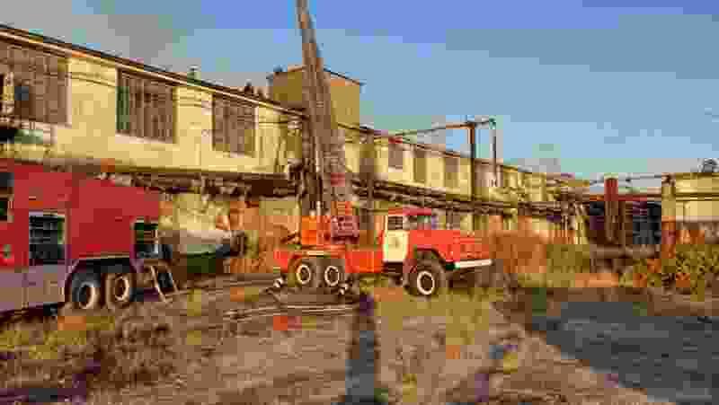 В Тамбовской области загорелся цех Моршанской мануфактуры