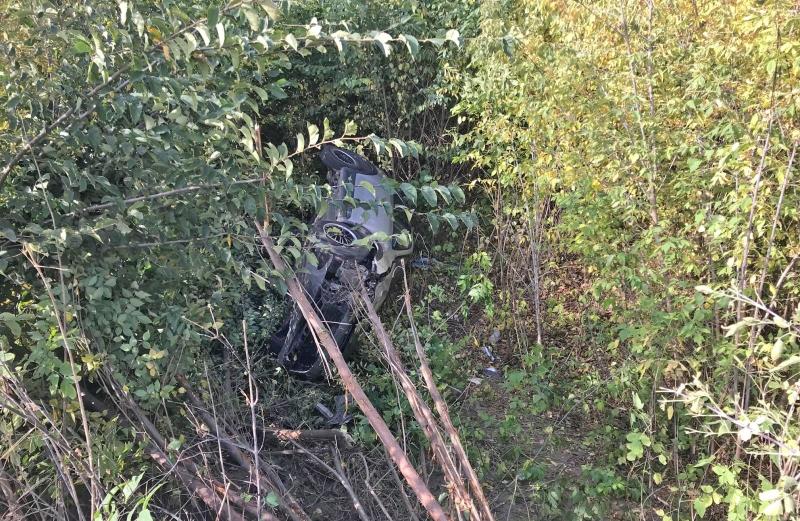 В Тамбовском районе иномарка «улетела» в кювет и перевернулась