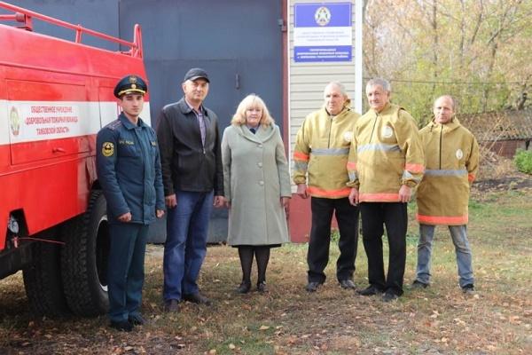 В Уваровском районе оснащение добровольной пожарной команды пополнилось новым пожарно-техническим вооружением