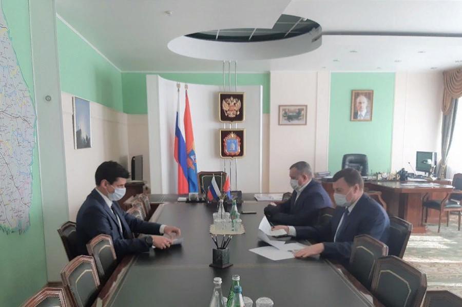 Владимир Компаниец встретился с главой администрации Тамбовской области