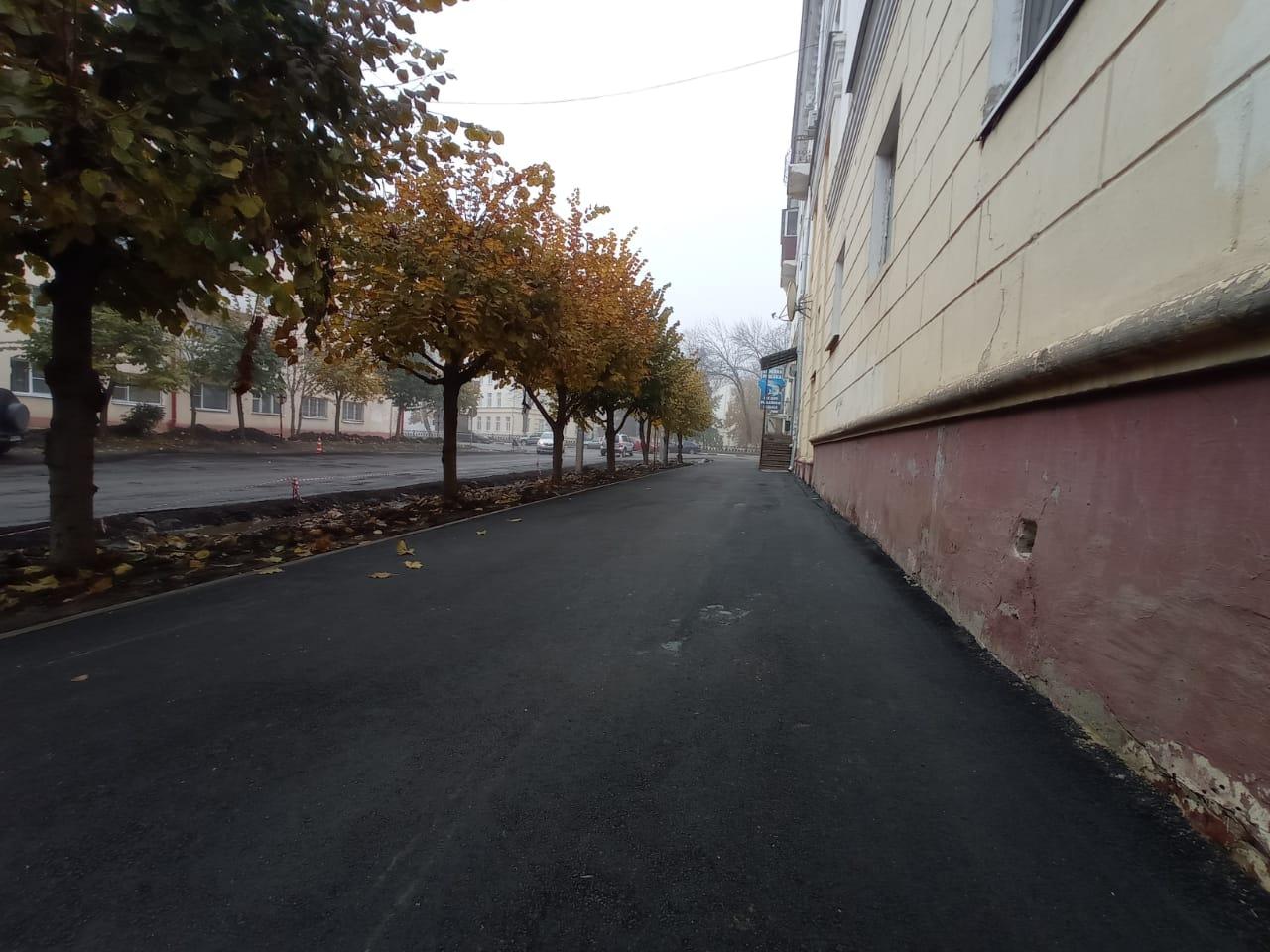 На улице 1-ая Полковая близится к завершению ремонт проезжей части
