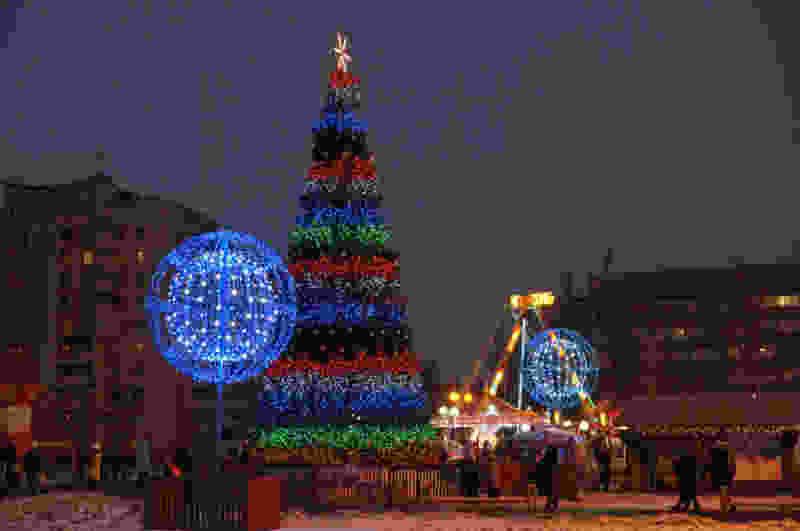 Тамбовские ёлки начали украшать к Новому году
