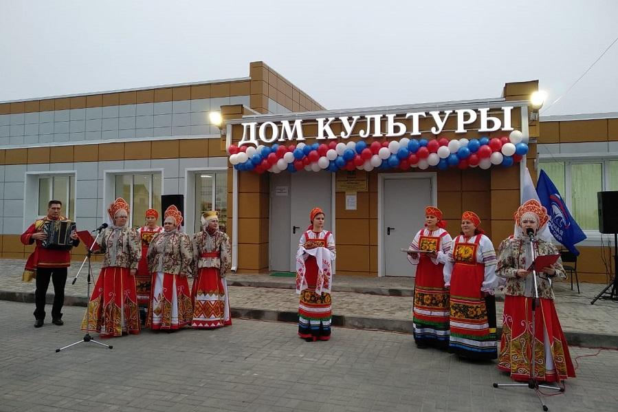 В Кирсановском районе открыли второй дом культуры после капремонта