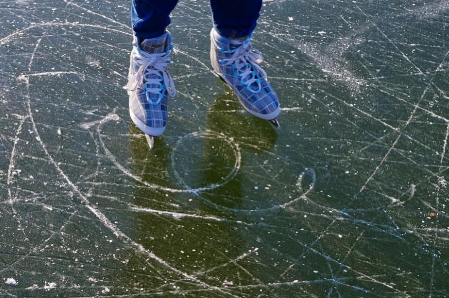 В МЧС напомнили о безопасной толщине льда для катания на коньках