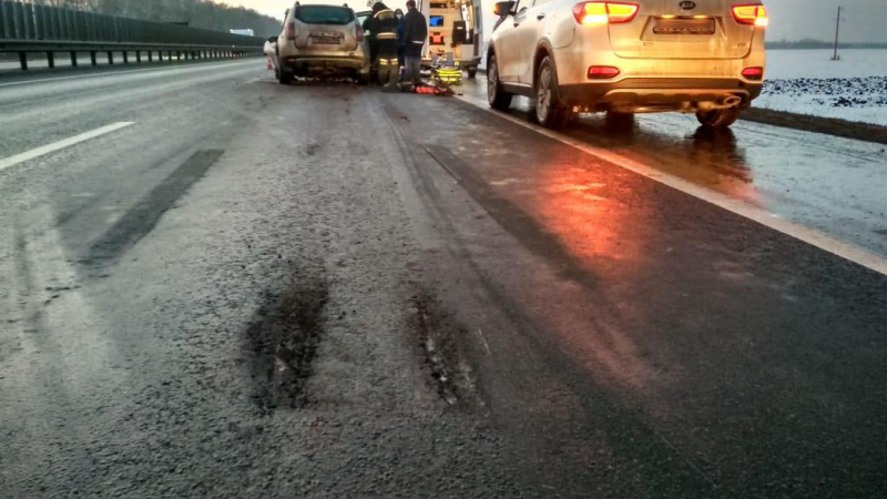 В Никифоровском районе иномарка столкнулась с автобусом