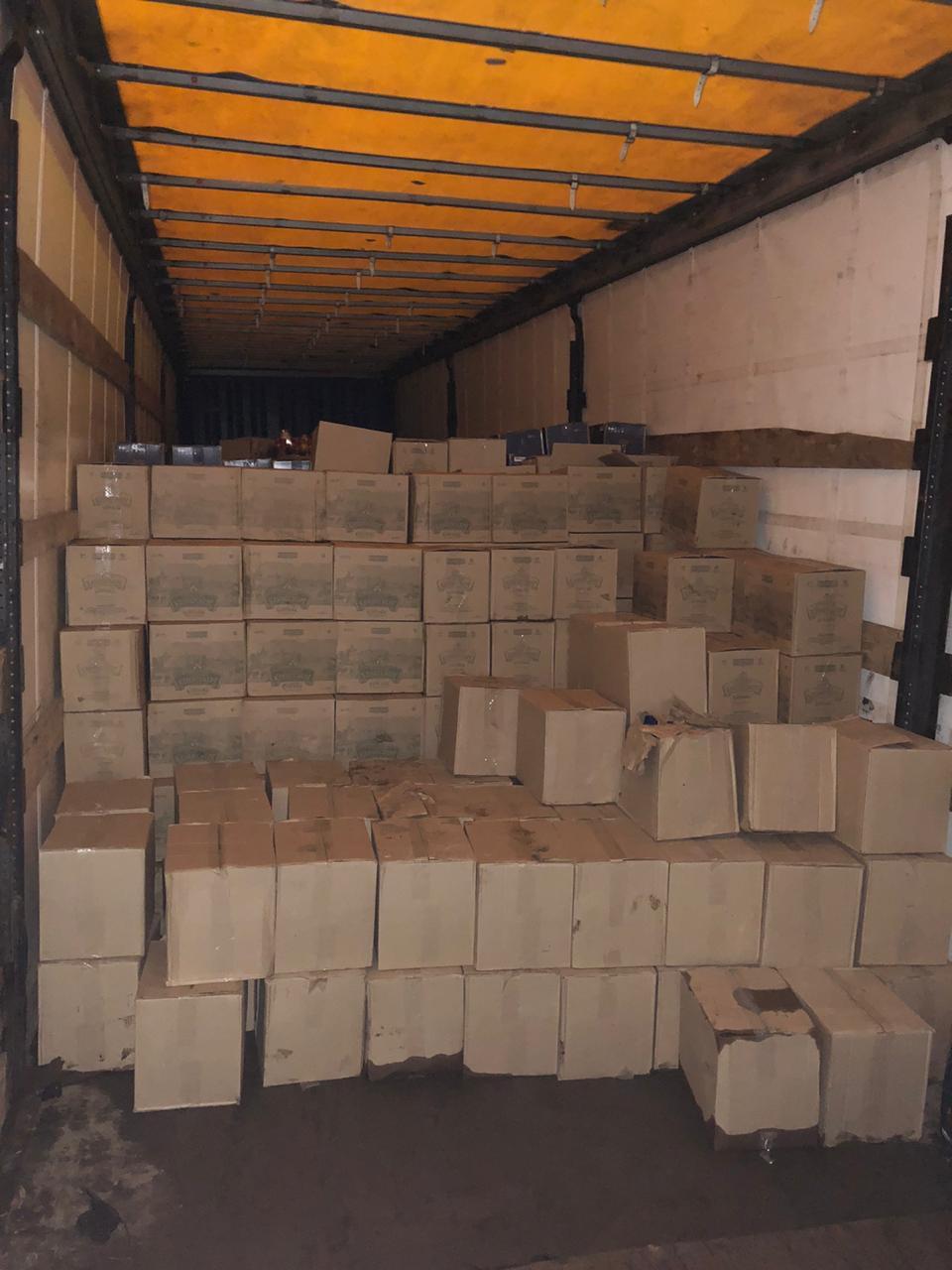 В Тамбове изъяли больше 20 тысяч бутылок водки и коньяка