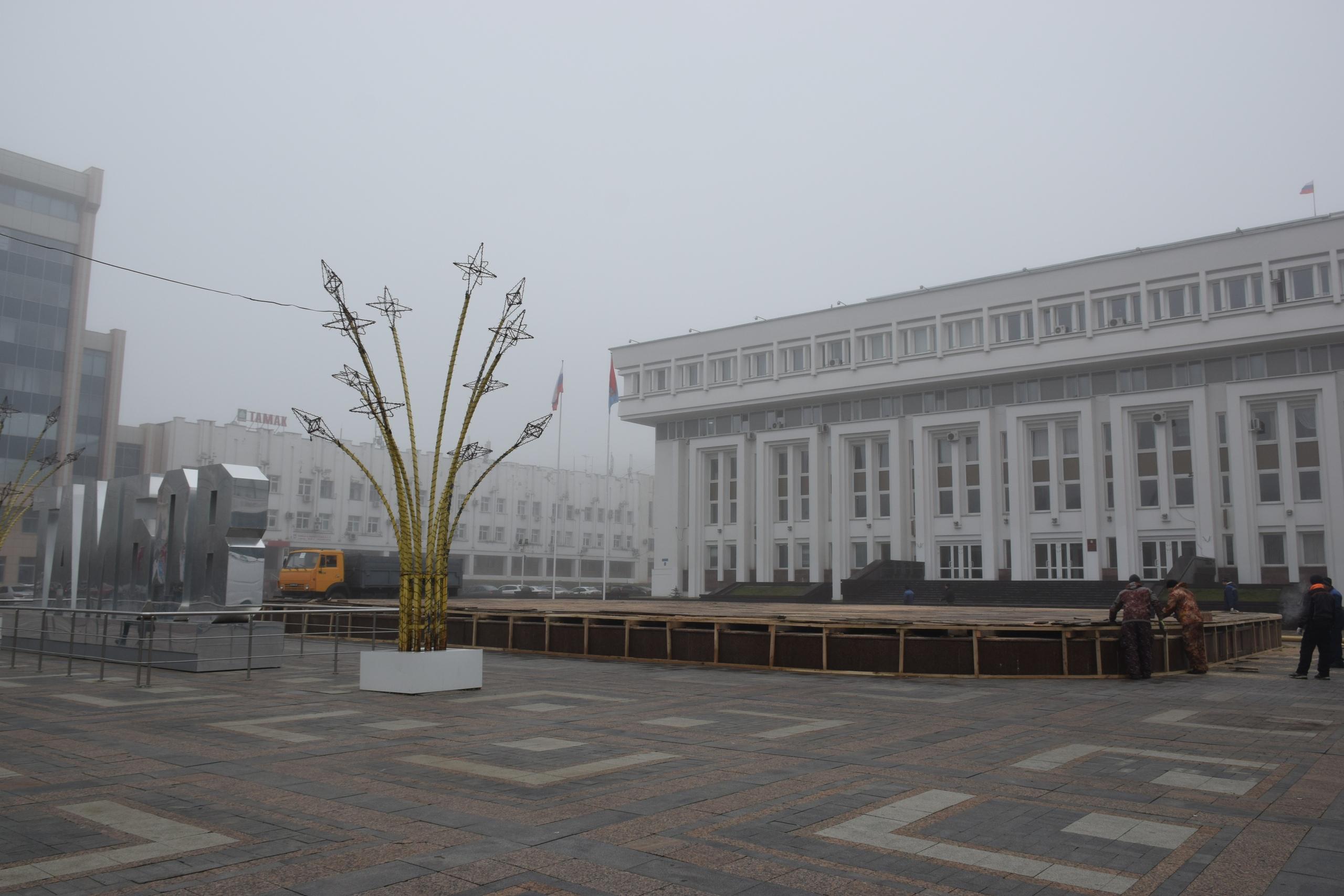 В Тамбове продолжают консервацию фонтанов