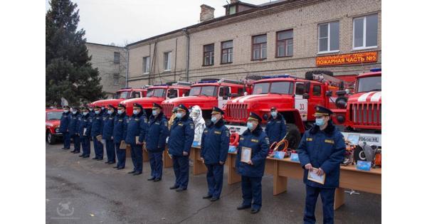 ВТамбовской области Пожарно-спасательный центр получил новые автомобили