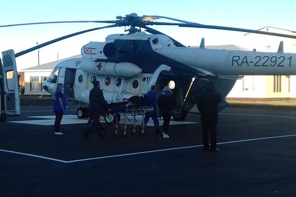 В Тамбовской области вертолет санавиации помог спасти жизнь пациента