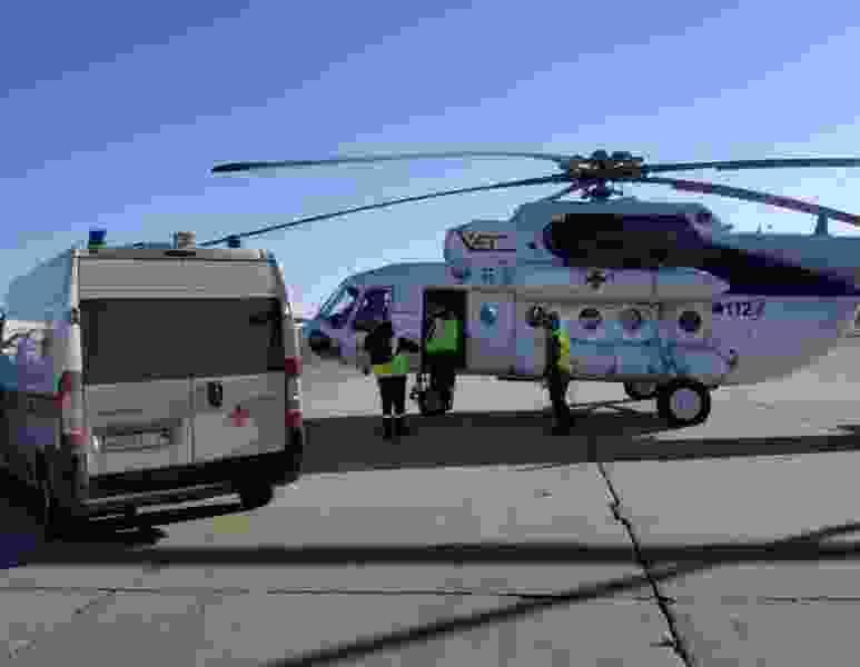 В Тамбовской области вертолёт санавиации доставил первого пациента в больницу