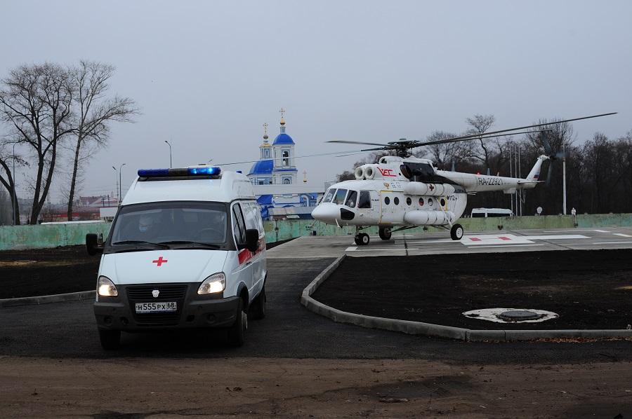 За неделю вертолёт санитарной авиации эвакуировал шесть пациентов