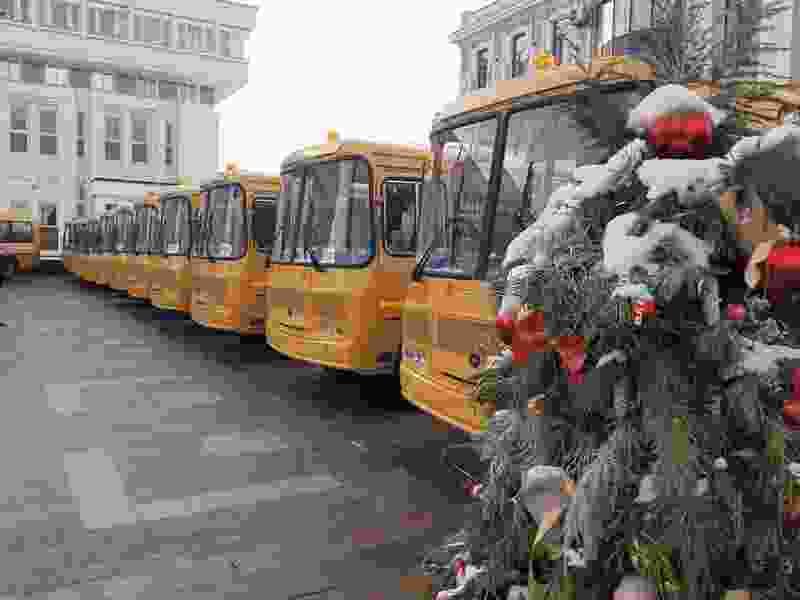 Парк школьных автобусов Тамбовской области обновлён на 26 единиц