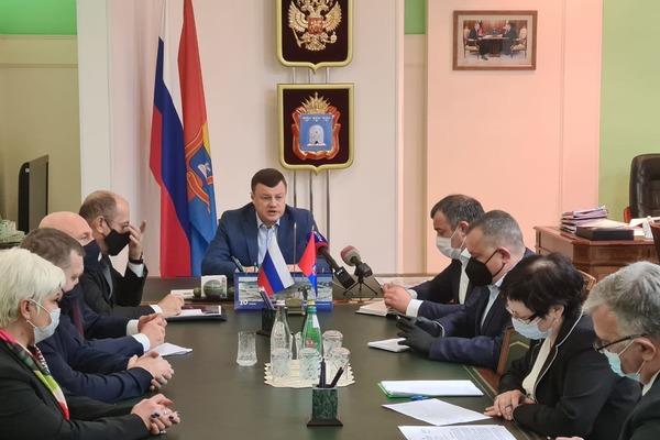 Президент РПЛ Сергей Прядкин встретился с тамбовским губернатором