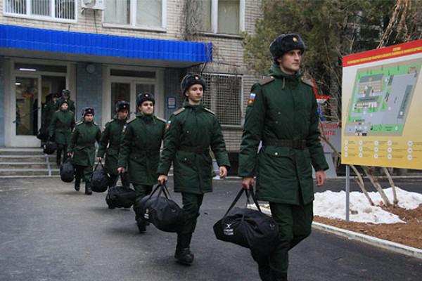Ростовские призывники отправились служить внаучные роты минобороны