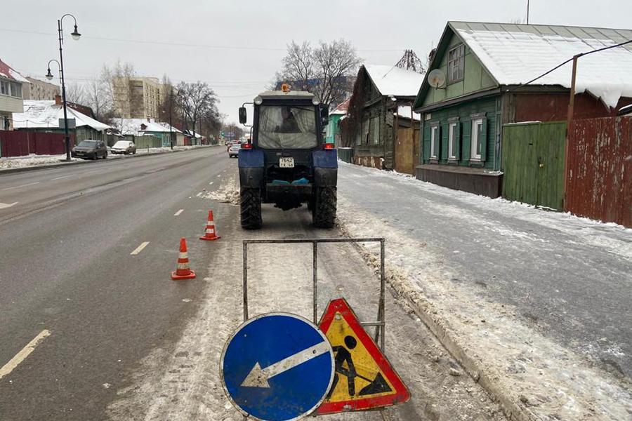 С тамбовских улиц вывезли более 1000 кубометров снега
