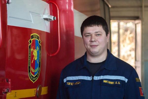 Тамбовского пожарного представили к награде за спасение женщины из огня