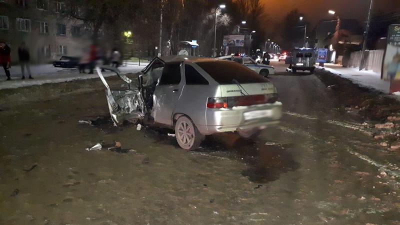 В Мичуринске водителя ВАЗ госпитализировали после ДТП
