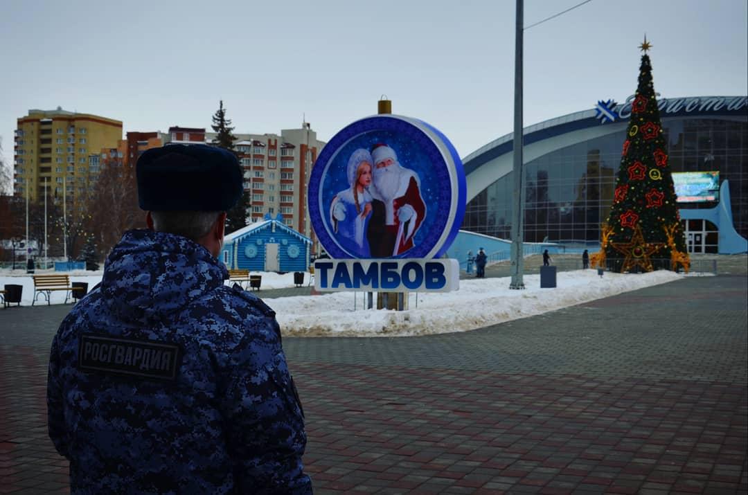 В Тамбовской области более 200 росгвардейцев будут следить за порядком во время праздников