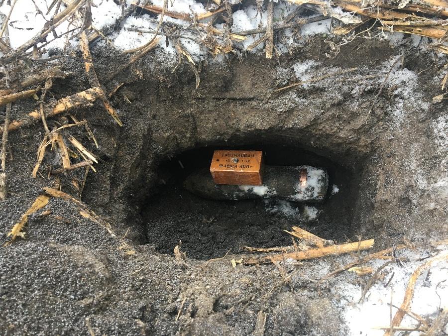 В Тамбовской области нашли артиллерийский снаряд