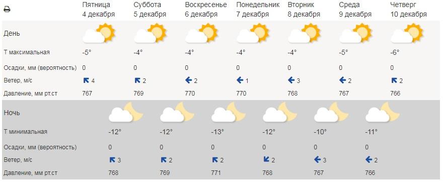 В Тамбовской области ожидается аномально холодная для начала декабря погода